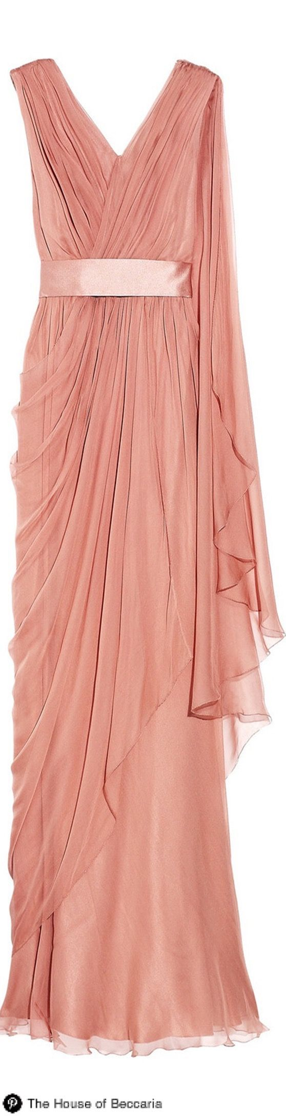 Alberta Ferretti Grecian Inspired Silk-chiffon gown | The House of ...