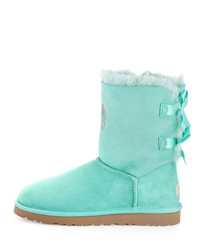 6a62611f479 Bailey Bow-Back Short Boot Aqua | uggs | Boots, Uggs, Fashion boots