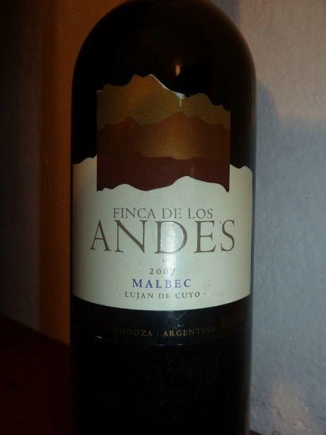 2005 Finca de Los Andes Malbec, Mendoza