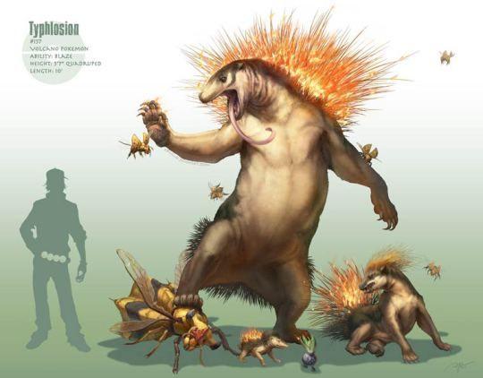 Un ilustrador ha creado unos increíbles Pokémon realistas, pareciendo que estamos viendo unas criaturas que parecen salidas del universo de Jurassic Park.