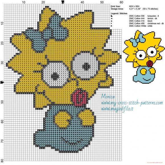 Baby Maggie patrón punto de cruz | Simpson | Pinterest | Cross ...