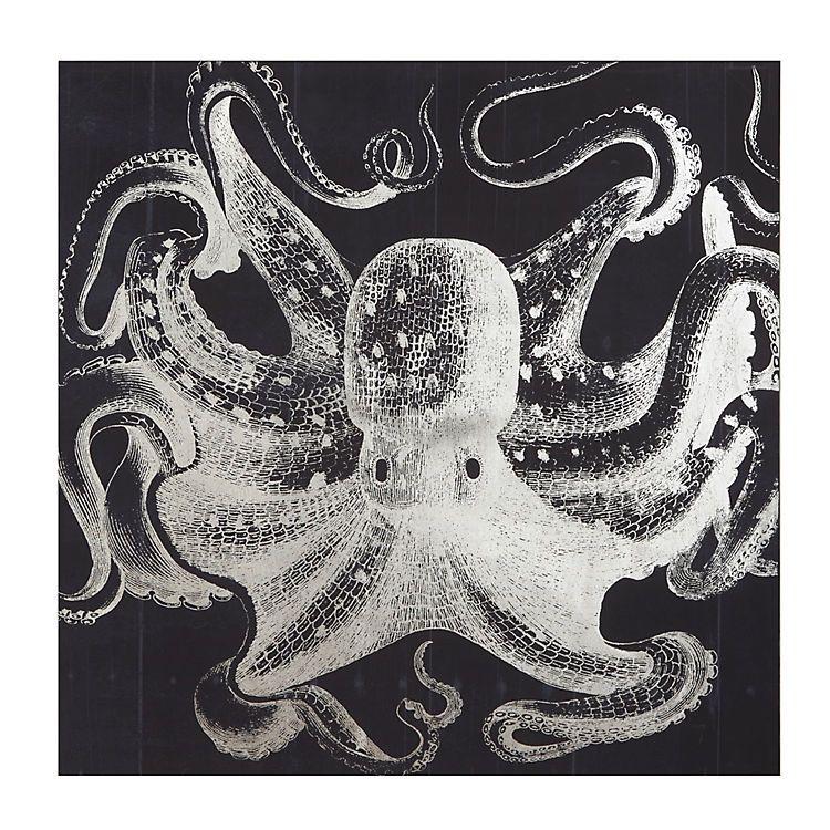 Blue and white octopus canvas art print kirklands