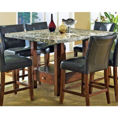 Buy Steve Silver Montibello Marble Top Counter Height Table On Sale Online