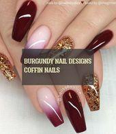 burgundy nail designs coffin nails – #burgundy #nail #designs #coffin #nails – Mode ,  #Burgundy #burgundynail #coffin #Designs #Mode #Nail #nails