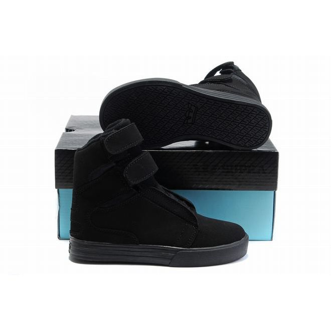 all black kid supra tk society high tops suede,buy supra shoes kids black