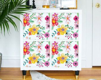 Kallax / Expedit, IKEA, Flamingo, uccello, adesivi, mobili