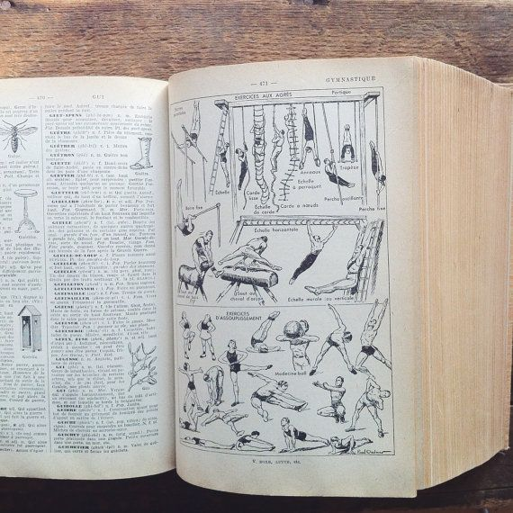 French vintage dictionary, Larousse | French vintage and Vintage