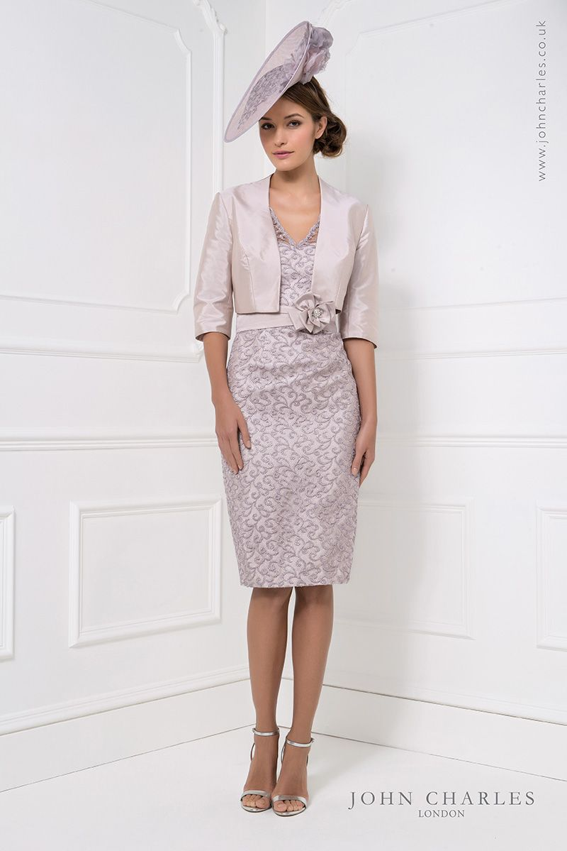 Pink lace dress with jacket  John Charles short lace dress u jacket   Catherines of Partick