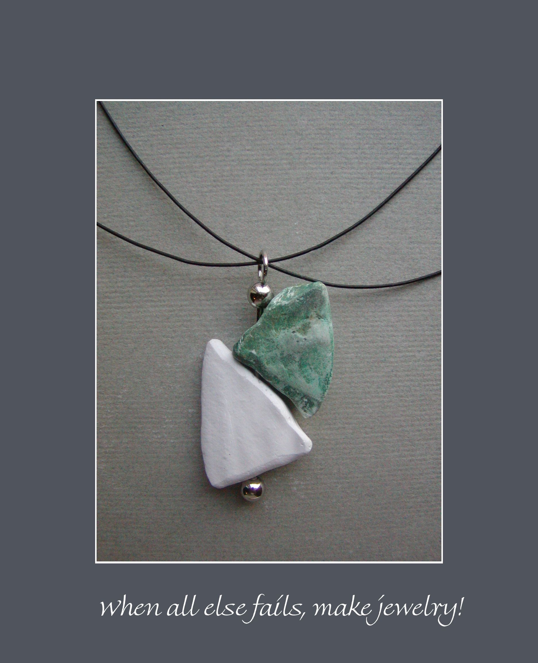 """Lab Art: """"PENDANT"""" ~ Salvaged, and transformed, cast-off plaster from Orthotic & Prosthetic lab(s). created: 2002 Jo Ann Smith-Young"""