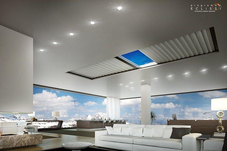 Cortina para ventanas de techo el ctrica de tela skylight - Cortinas para tragaluz ...