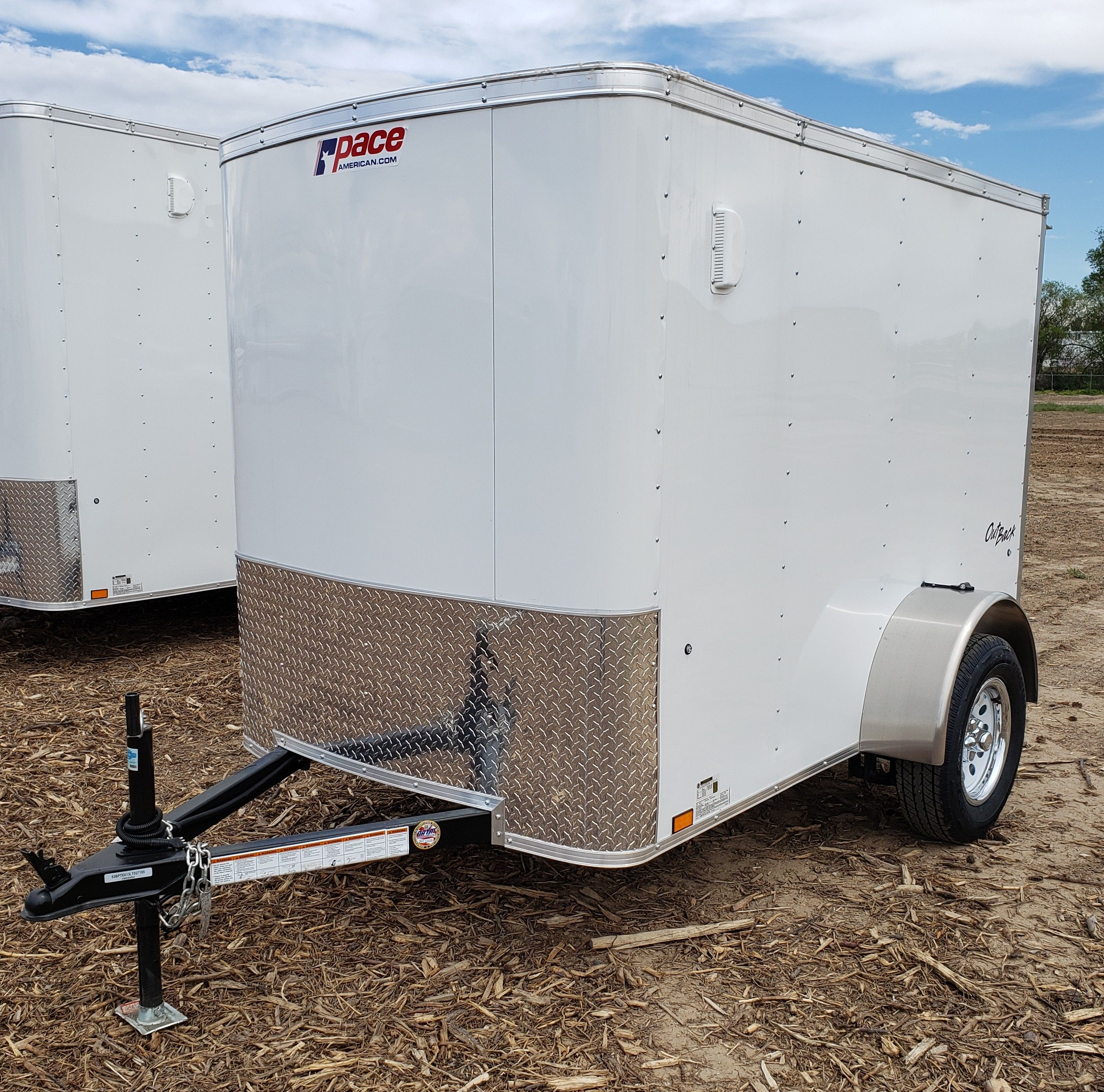 """2019 Pace Outback Cargo trailer 6'8"""" x 12'3"""" x 7'0"""
