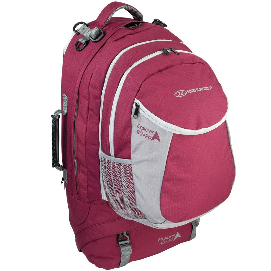 Pink Ladies Travel Backpack | Highlander Explorer 80 20L | Buy ...
