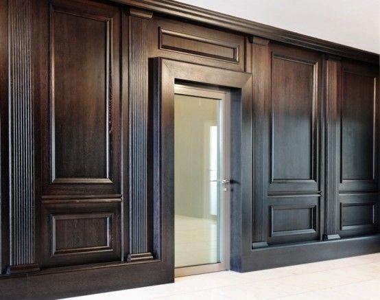 Interior classy big wood wall panels design interior wall - Modern wood wall paneling ...