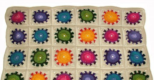 Sunflower Happiness A Crochet Rug Afghan Pattern Haken