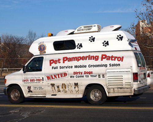 Pet Patrol Mobile Grooming Salon Van Bronx New York City Pamper Pets Grooming Salon Mobile Pet Grooming