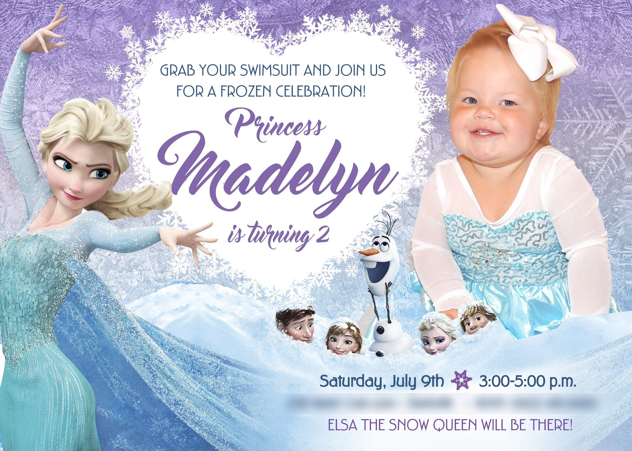 Remarkable 2Nd Birthday Frozen Invitation A Nice Sample Your Daughter And Personalised Birthday Cards Paralily Jamesorg