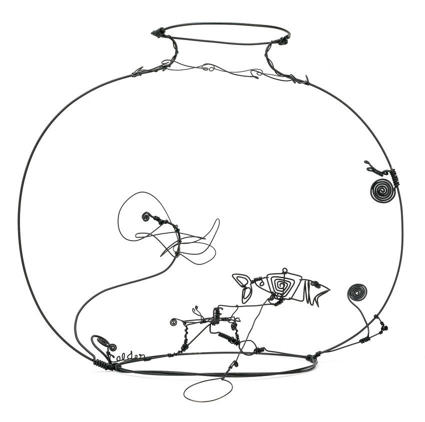 Alexander Calder Us 1898 1976 Aquarium Metal Wire And Paint