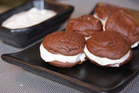 There is No Secret Ingredient: Chocolate Sandwiches with Cookies 'n' Cream Yogurt Icing!