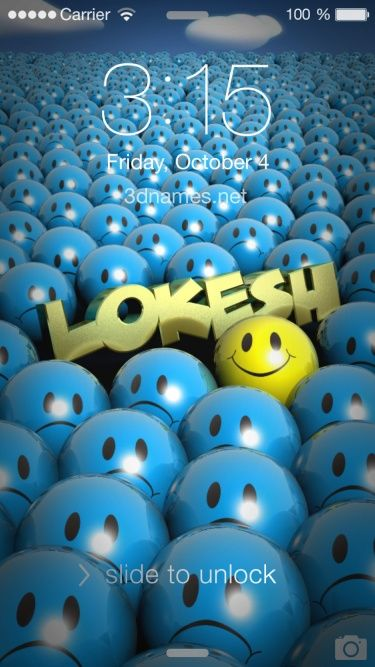 Preview Of Special Smileys For Name Lokesh