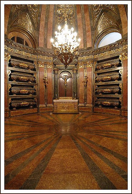 Panteón Real in the El Escorial castle - pantheon for the kings and queens of Spain