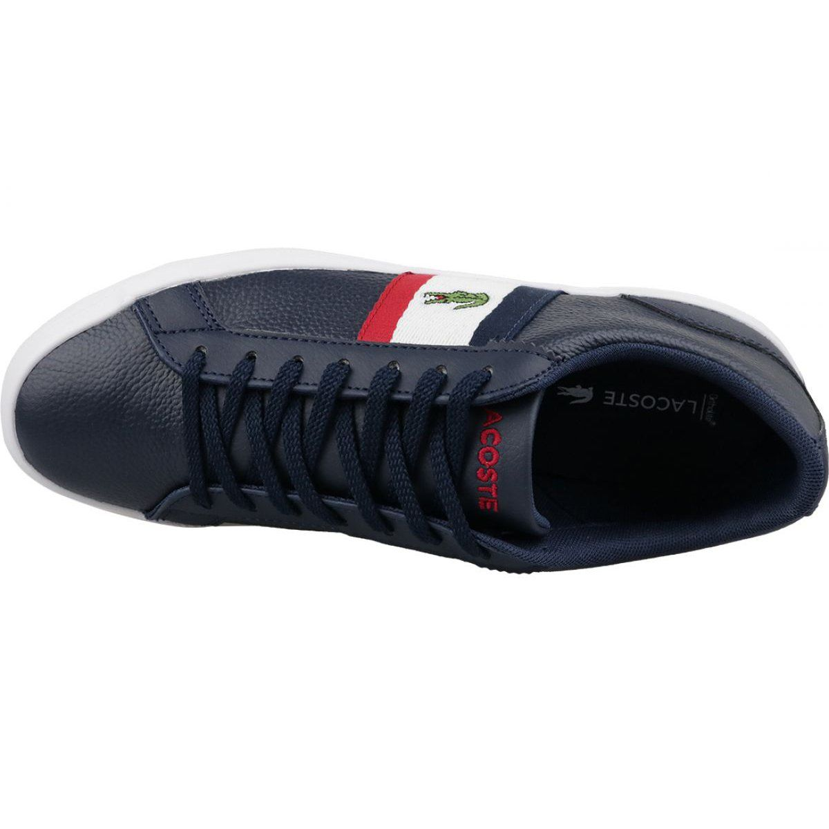 Buty Lacoste Lerond 119 M 737cma00457a2 Biale Czerwone Granatowe Lacoste Superga Sneaker Sneakers