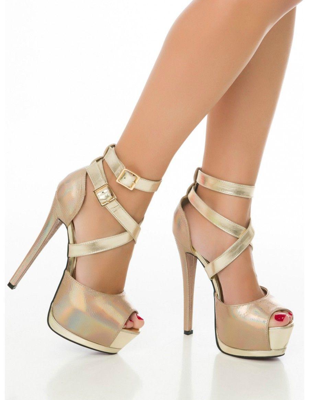 1420df78c83 Sandalias de Fiesta con Tacon Alto Z246 - Zapatos Platform