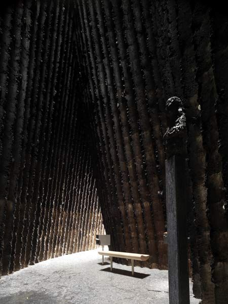 Brother Klaus Field Chapel by Peter Zumthor. In a farmer's