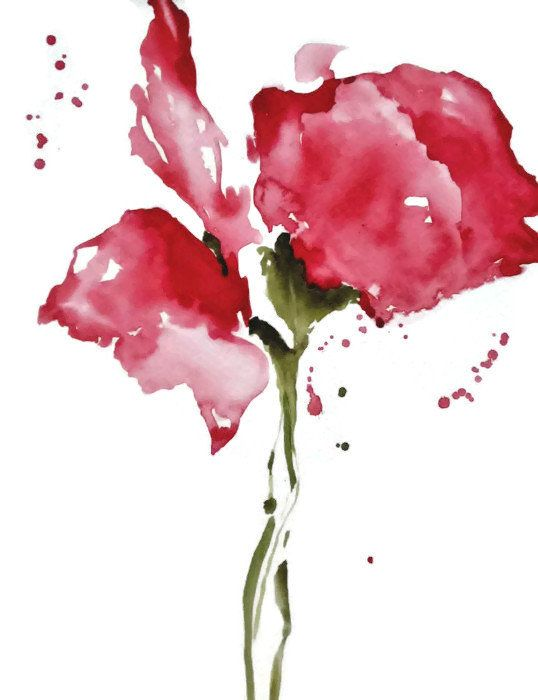 Floral watercolor painting watercolor flower by for Abstract watercolour flowers