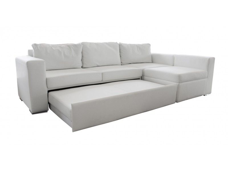 Designer Sectional White Leather Sofa