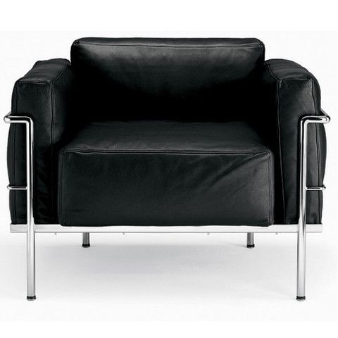 Luxe le corbusier grand confort soft lounge chair lc3 for Bauhaus chaise lounge