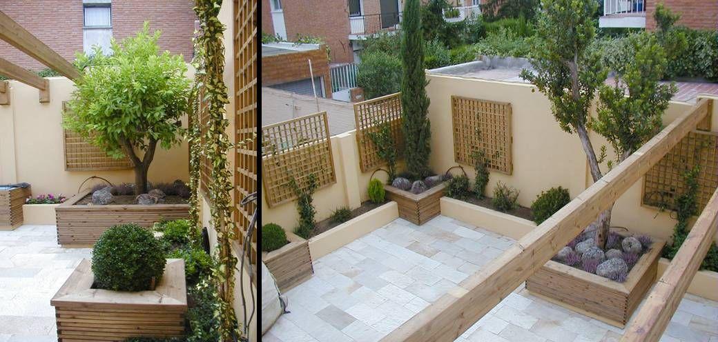 El esqueleto de este jard n lo consituyen las jardineras for Paisajismo de patios