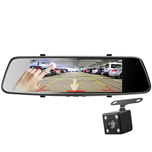 2K Ultra HD 2160P Front /& 1080P Rear 5.0 Ultra Clear IPS Rearview Mirror Backup Camera with 150 Degree Viewing Angle Z-EDGE Z2Pro Dual Dash Cam WDR Front and Rear Dash Cam 16GB Card Included