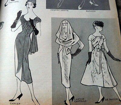 VTG 1950s PARIS Pattern Catalog Book MODES et TRAVAUX 1956 DESSES PATOU HEIM
