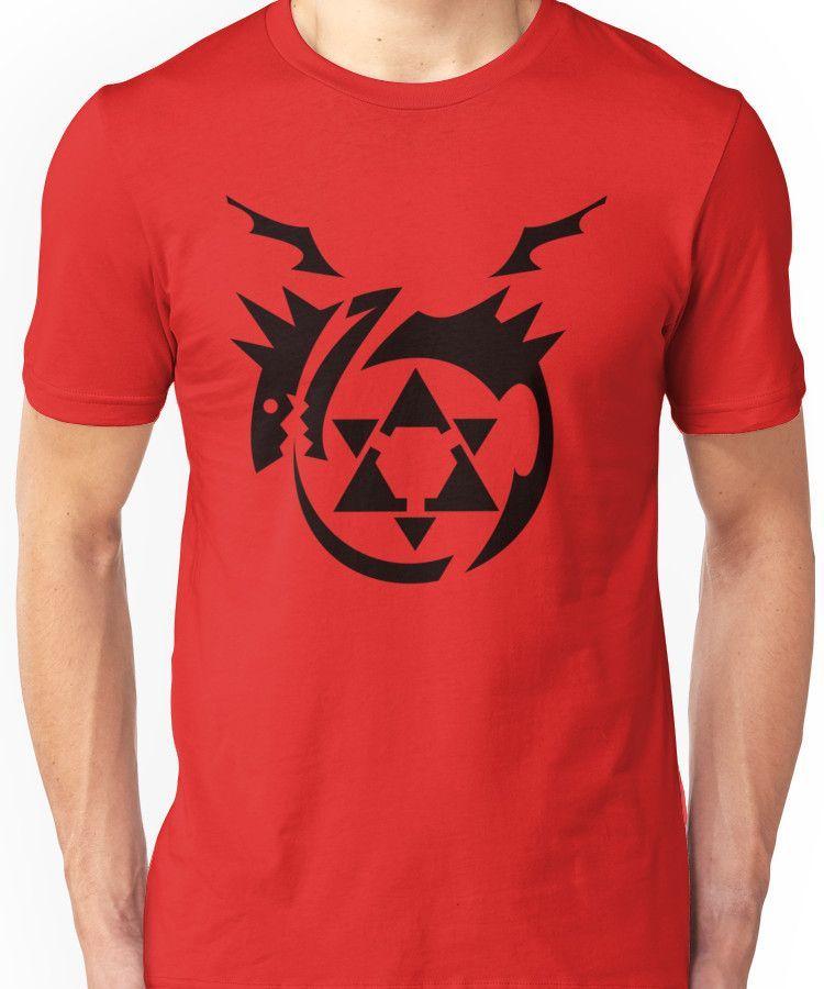 Black Homunculus Symbol Fullmetal Alchemist Unisex T Shirt