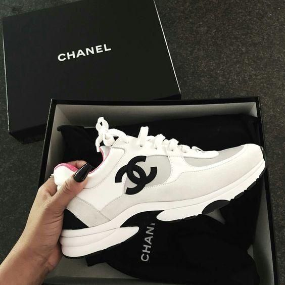 Sneakers | Chanel | Shoes | Dad sneakers | White sneakers | Inspiration | More o... 17