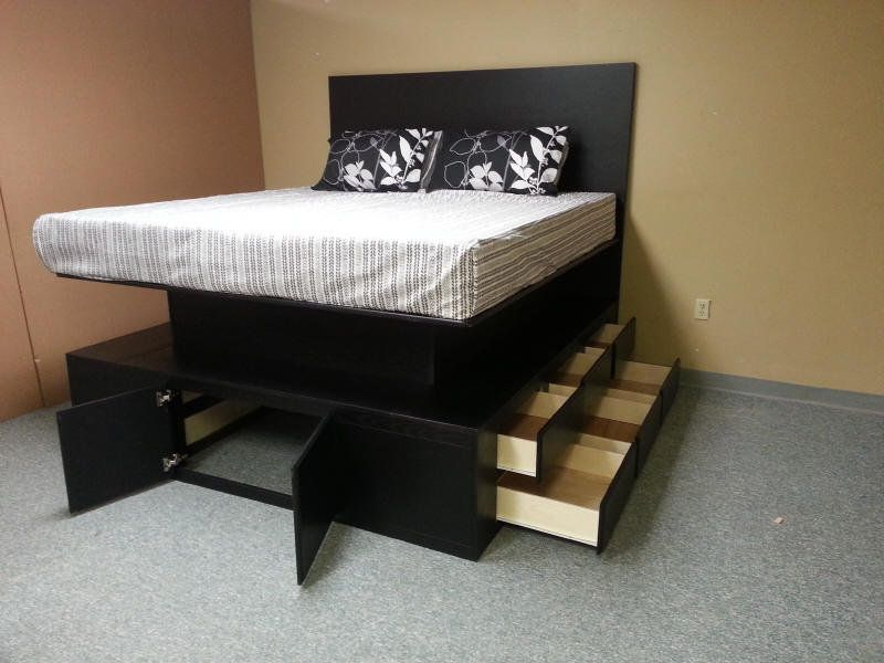 painting of fascinating beds with drawers for super convenient sleeping space - Bed With Drawers