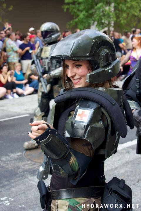 Halo Marine Costume - DragonCon Parade 2011 by hydraness.deviantart.com on @deviantART