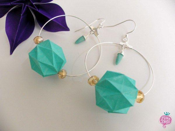#Paper #lantern made with #origami technique. Find more on www.rava-nello.it #paperjewellery