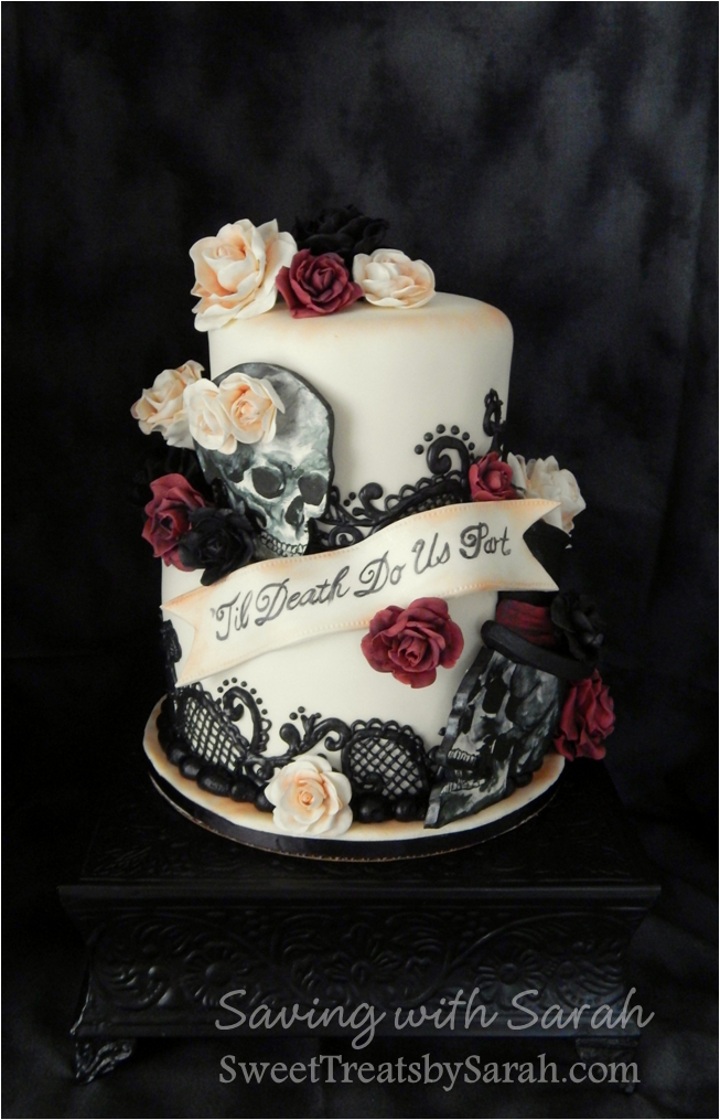 goth wedding cake not all wedding cakes look the same 14887