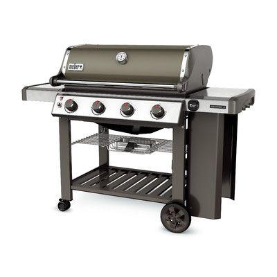 Weber Genesis Ii E 410 Propane Finish Smoke Natural Gas Grill Propane Gas Grill Gas Grill