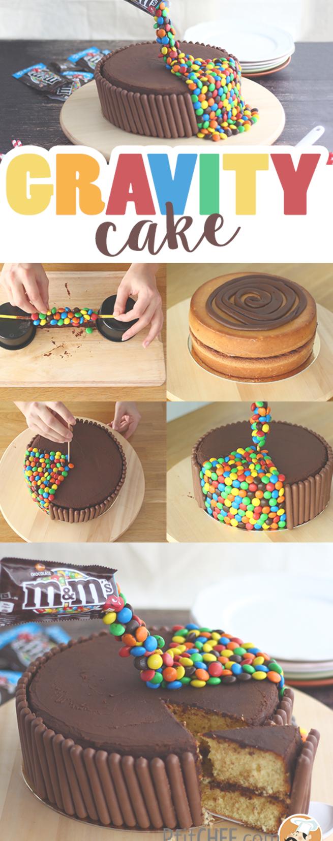 Gravity cake pour un anniversaire // #ptitchef #recette #cuisine #dessert #patisserie #GravityCake #chocolat #gravitycake