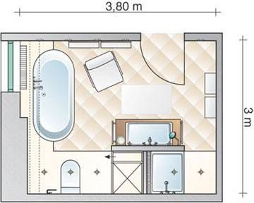 Bad grundrisse salle de bain pinterest bad grundriss for Grundriss badezimmer