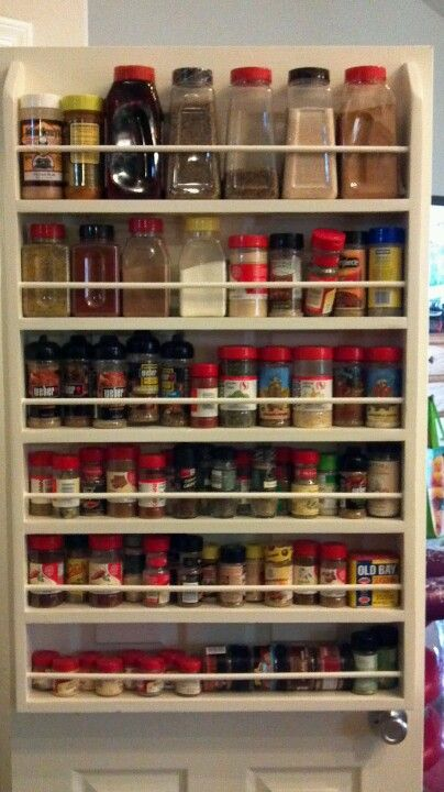 Pantry Door Spice Rack. So Easy To Make. Plus You Will Be Opening Up