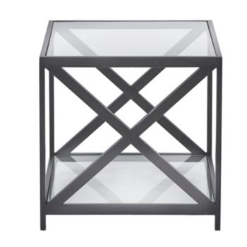 Darwin End Table Quick Ship Black Glass End Tables Glass