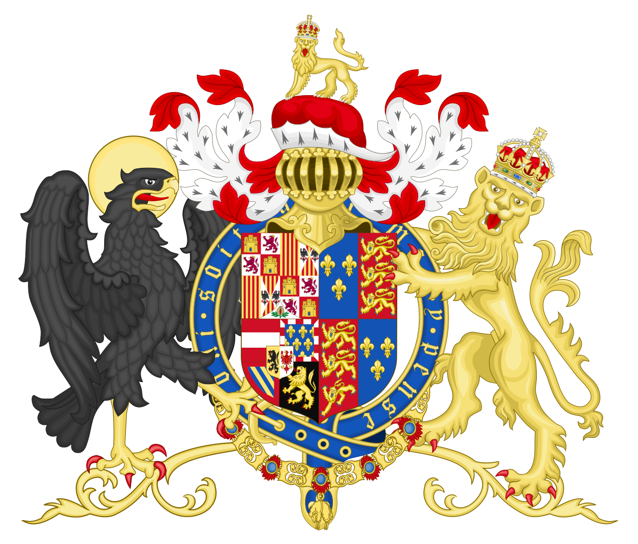Coat Of Arms Of Philip Of Austria Prince Of Asturias And King Of England Svg Arms Coat Of Arms Heraldry
