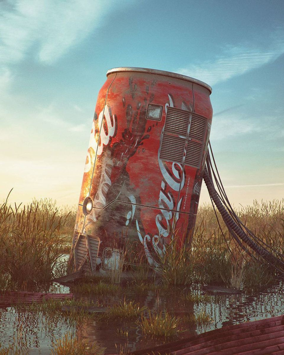 Digital Artist Places Pop Culture Icons In Eerie Apocalyptic - Digital artist places pop culture icons in eerie apocalyptic scenes
