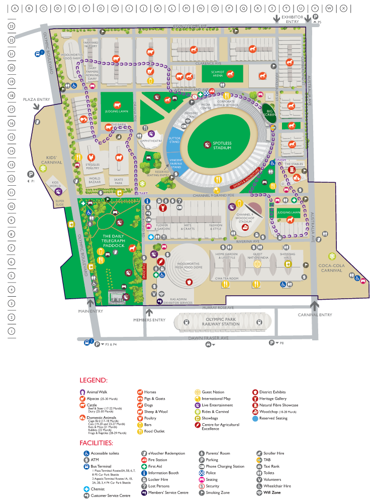 Royal Easter Show Map Maps & Guides   Sydney Royal Easter Show | Places to Visit | Show  Royal Easter Show Map