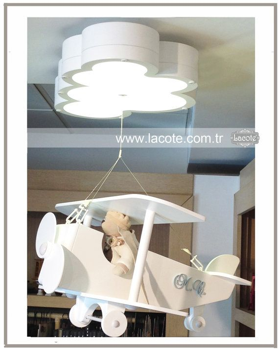 Child And Baby Airplane Lamp By Lacotekids On Etsy 1500 00