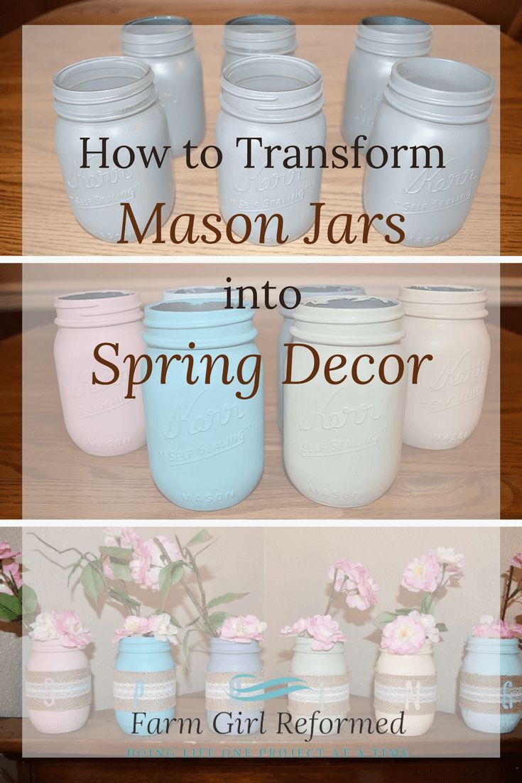 How to transform mason jars into spring decor beautiful photo