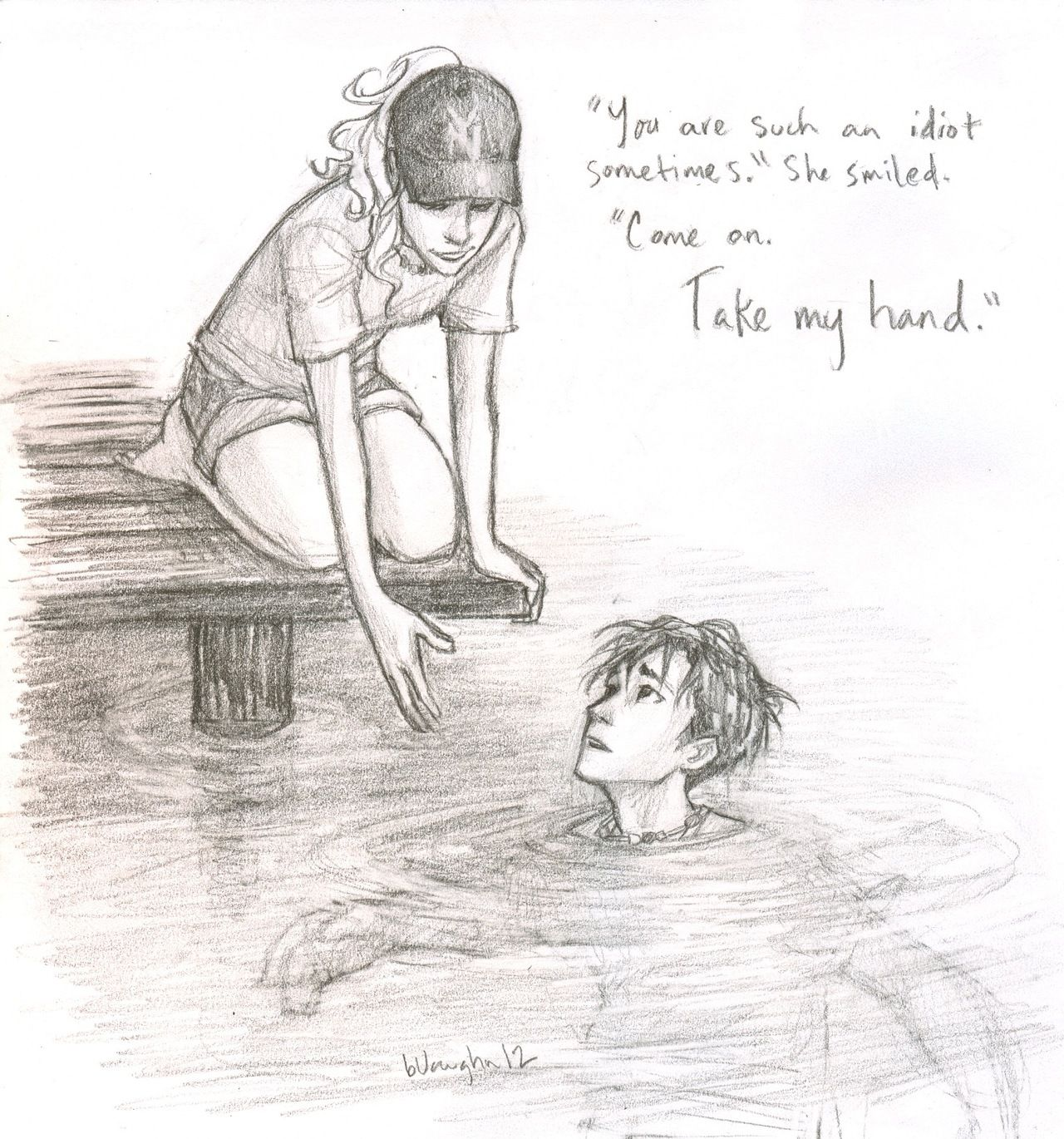 Annabeth and Percy by Burdge awesome except Percy can't get wet